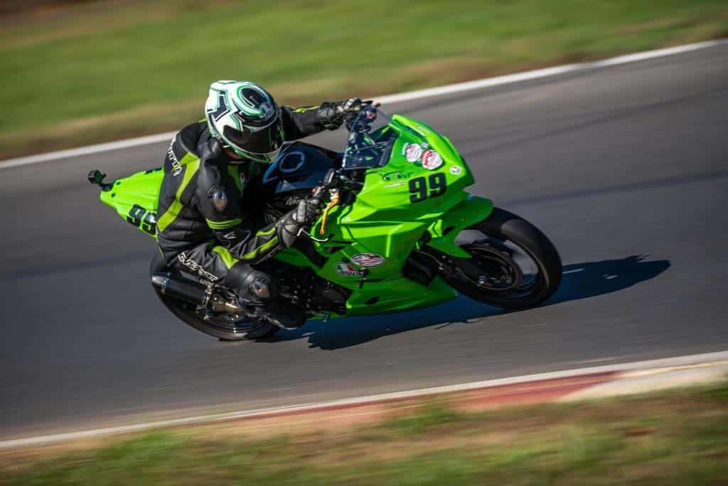 Michael-Parrotte-AGVSPORT-founder-Kawasaki-Ninja-400-SP